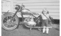 Czernik With Motorcycle Early 1950s